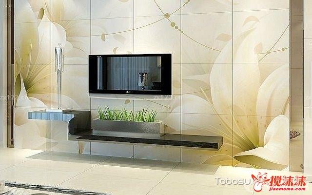 电视墙贴砖效果图欣赏, 美观大气有品味