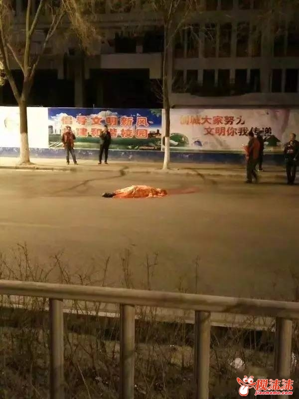 西宁二十八中学门口发生了车祸1死4伤图片