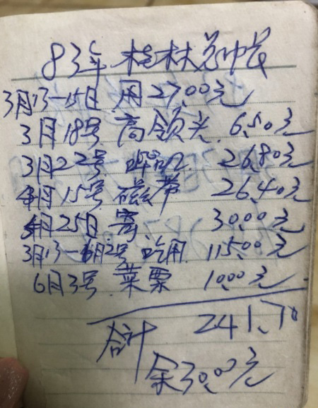 83年的物价,电影票8毛,5包牡丹4.3元,60块钱的伙食费够三个人吃两个月