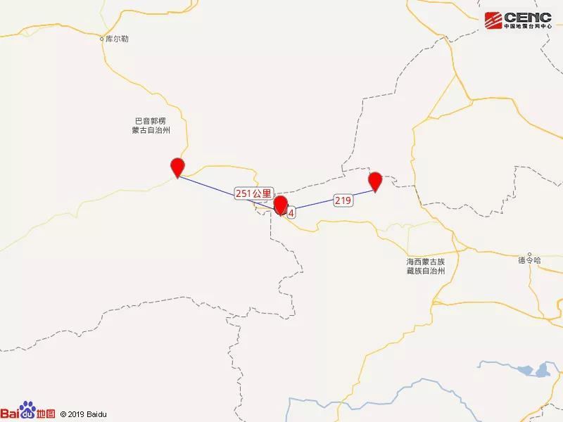 今晨,青海省海西州茫崖市连发5.0级,3.8级,4.2级地震
