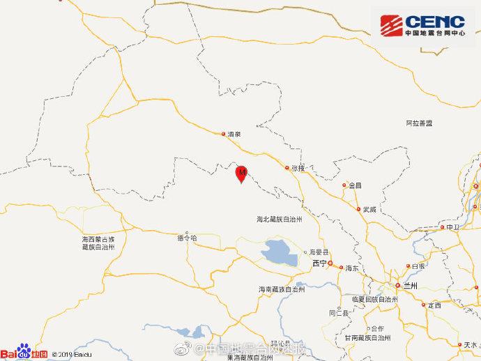 祁连县发生3级地震